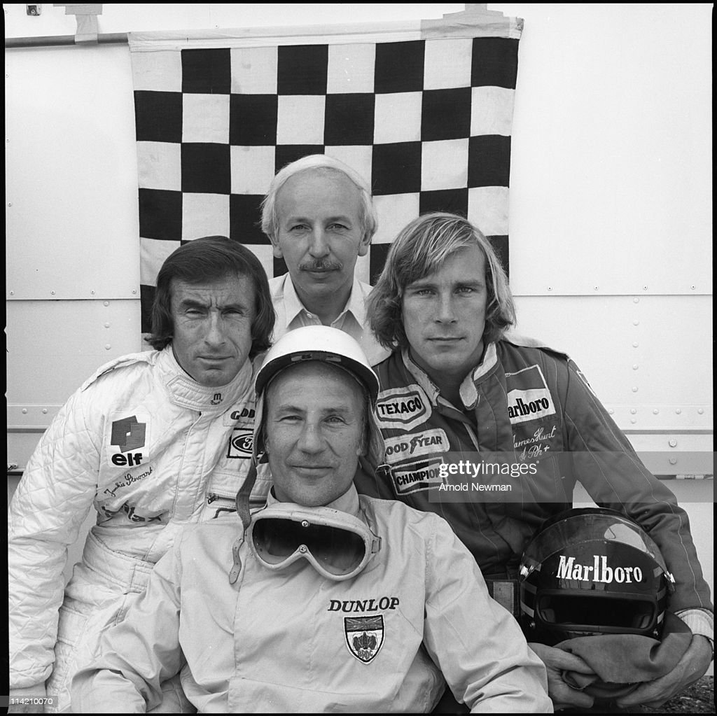British Racers Portrait Of Four Formula One Race Car Drivers Jackie