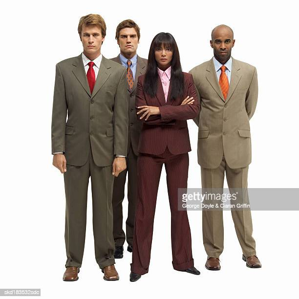Portrait of four business executives