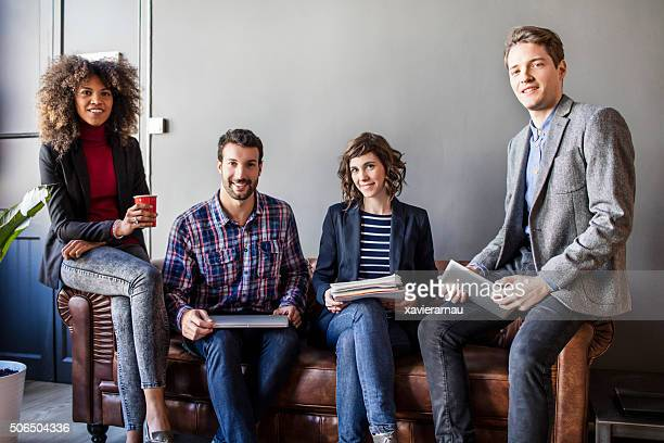 portrait of four creative business people - 20 29 years stock pictures, royalty-free photos & images
