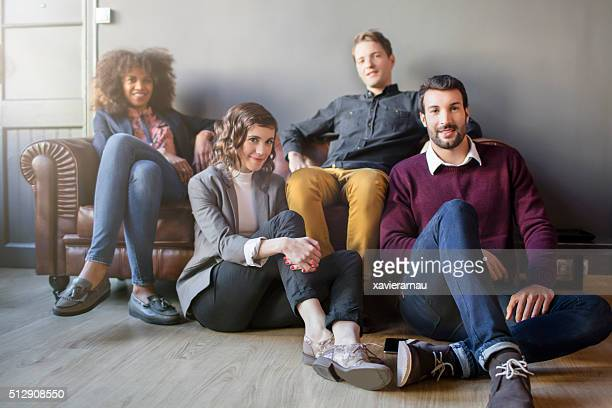 portrait of four creative business people - number of people stock pictures, royalty-free photos & images