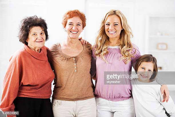 portrait of four generations female. - great grandmother stock pictures, royalty-free photos & images