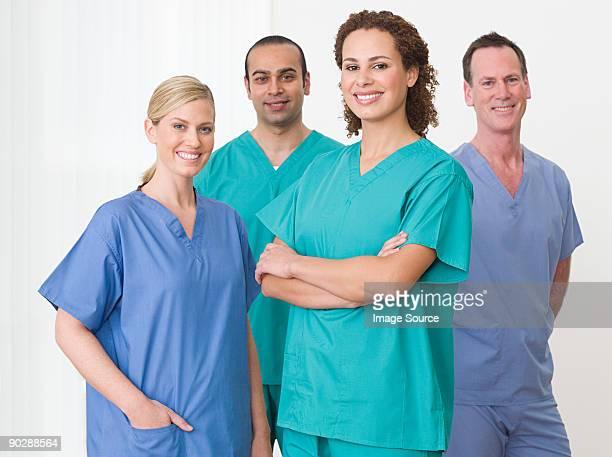Portrait of four nurses