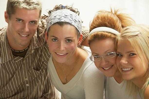 Portrait of four siblings