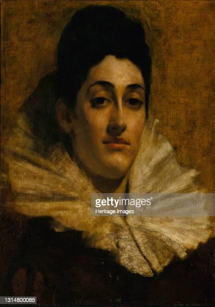 Portrait of Frances C. Houston, ca. 1880-1889. Artist Thomas W Dewing.