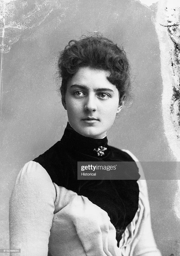 Portrait Of Frances Folsom Cleveland Wife Of President
