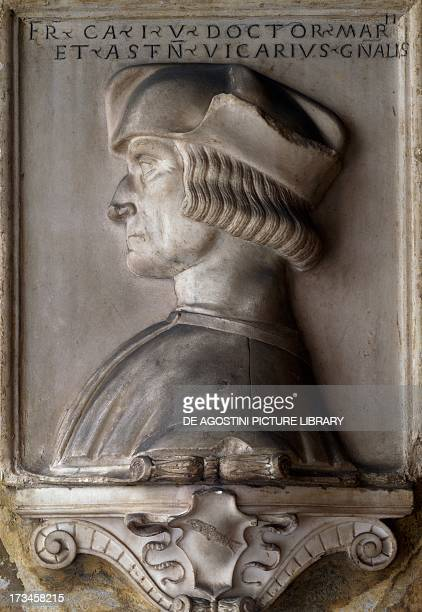 Portrait of Francesco Cavassa 15181528 by Matteo Sanmicheli basrelief porch of Casa Cavassa Saluzzo Piedmont Italy 16th century