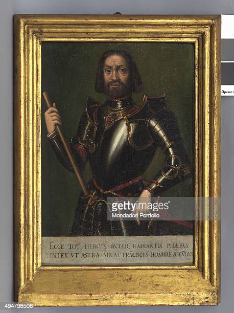 Portrait of Francesco II Gonzaga by Workshop of Fermo Ghisoni 15501580 16th Century oil on board5 x 28 cm Italy Lombardy Mantua Palazzo Ducale Whole...