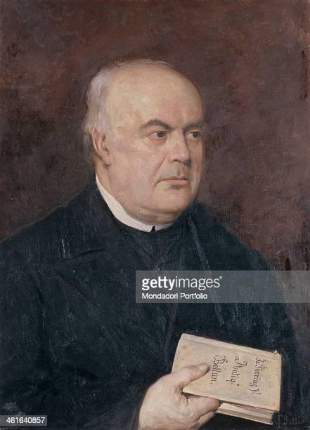 Portrait of Francesco Pellegrini, by Francesco Bettio, 1880 - 1889, 19th Century, oil on canvas. Italy, Veneto, Belluno, Civic Museum. Whole artwork...