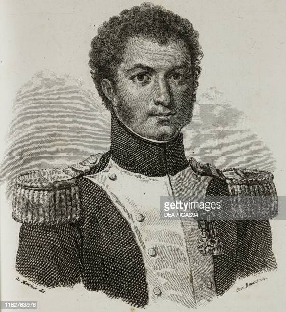 Portrait of Francesco Teodoro Arese Lucini Italian soldier and patriot engraving by Bonatti after a drawing by De Maurizio from Vite dei primarj...