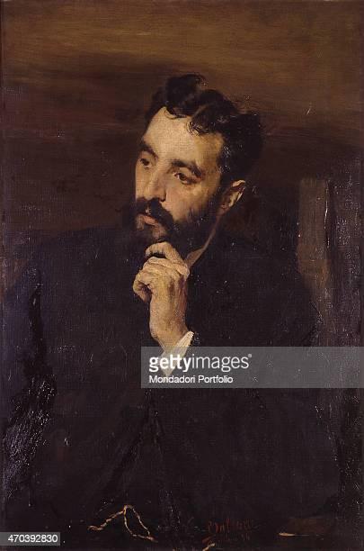 """Portrait of Francesco Zambeletti , by Cesa Tallone 19th Century, oil on canvas, 59 x 91,2 cm Italy, Lombardy, Milan, Brera Academy. Whole artwork..."
