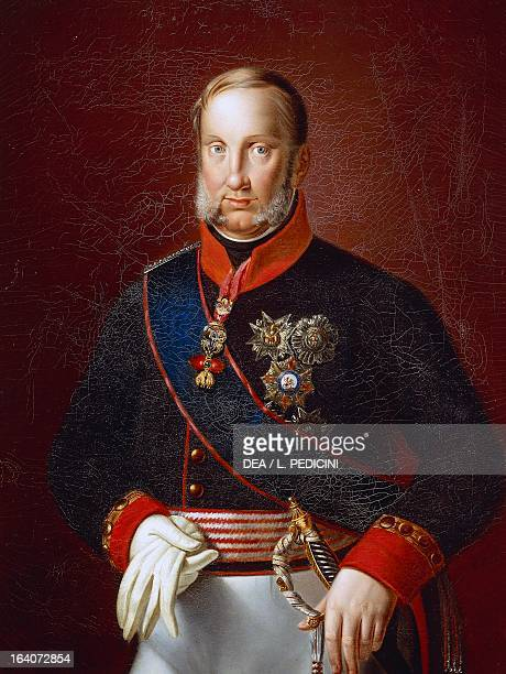 Portrait of Francis I of the Two Sicilies King of the Two Sicilies Son of Ferdinand IV of Naples and Maria Carolina of Austria Painting attributed to...