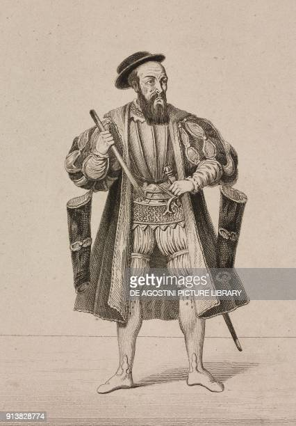Portrait of Francisco de Almeida Portuguese explorer engraving by Lemaitre from Portugal by Ferdinand Denis L'Univers pittoresque published by Firmin...