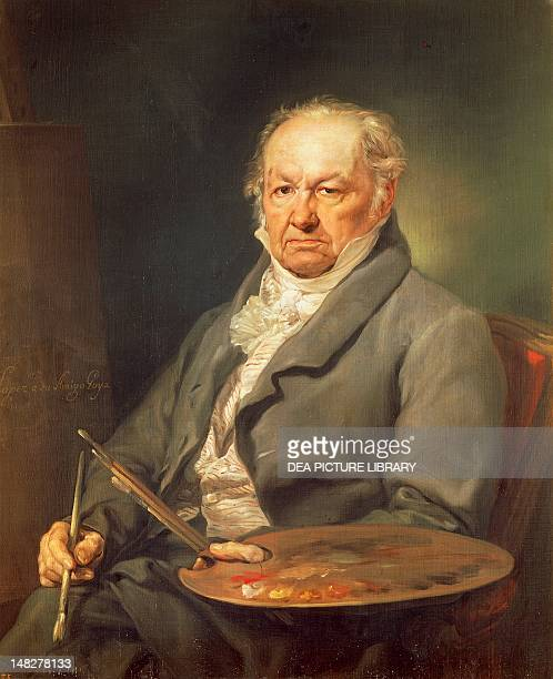 Portrait of Francisco Goya by Vicente Lopez y Portana oil on canvas 93x73 cm Madrid Museo Del Prado