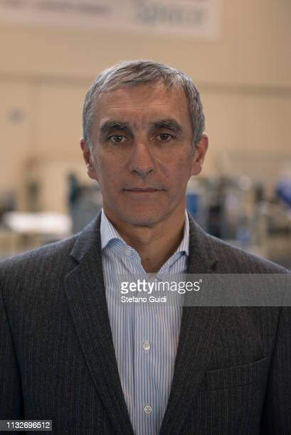 Portrait of Franco Fenoglio Human Space Flights Manager during the press presentation for the International Space Station at Thales Alenia Space...