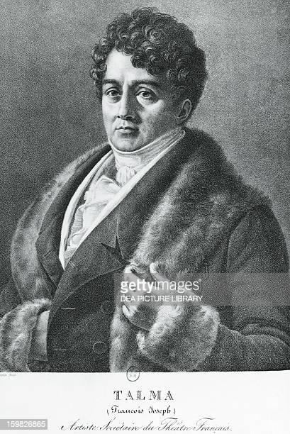 Portrait of FrancoisJoseph Talma French theatre actor