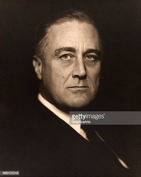 Portrait of Franklin D Roosevelt by Vincenzo Laviosa toned silver print 1932