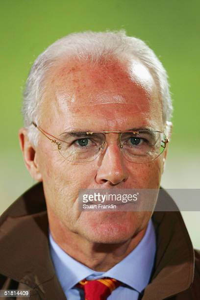 Portrait of Franz Beckenbauer prior to the UEFA Champions League group C match between FC Bayern Munich and Maccabi Tel Aviv at The Olympic Stadium...
