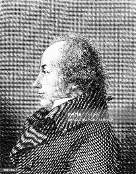 Portrait of Franz Joseph Gall German physician engraving