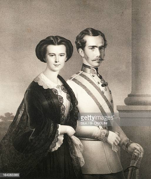 Portrait of Franz Joseph I of Austria Emperor of Austria and his wife Elisabeth of Austria Empress of Austria Como Museo Civico Storico Giuseppe...