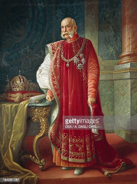 Portrait of Franz Joseph I of Austria Emperor of Austria from 1848 to 1916 King of Hungary from 1867 to 1916 and King of LombardyVenetia until 1866...