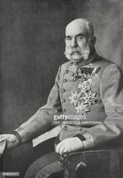 Portrait of Franz Joseph I of Austria , Emperor of Austria, from L'Illustrazione Italiana, Year XLI, No 31, August 2, 1914.
