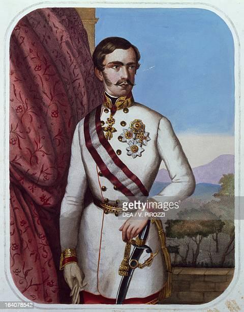 Portrait of Franz Joseph I of Habsburg , Emperor of Austria and King of Hungary. Rome, Museo Centrale Del Risorgimento