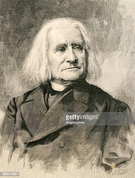 Portrait of Franz Liszt engraving 1886 From the publication 'La Ilustracion Artistica'