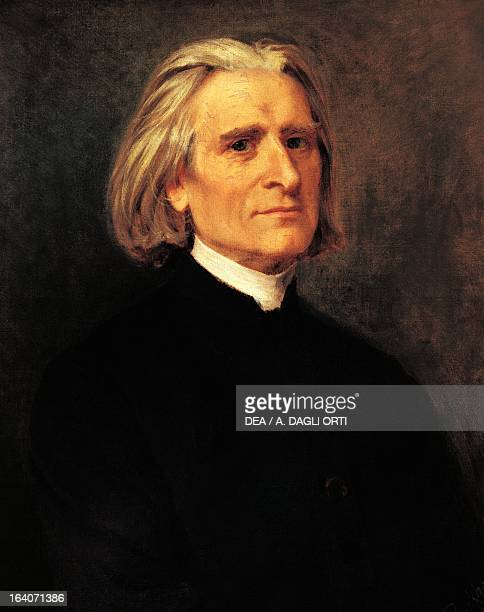Portrait of Franz Liszt Hungarian composer pianist and conductor 1869 Weimar LisztHaus