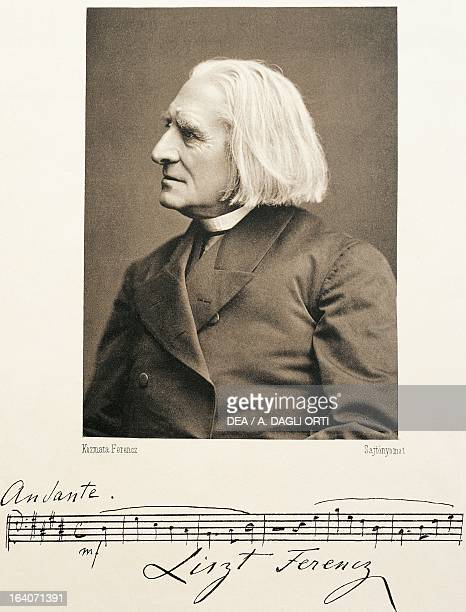 Portrait of Franz Liszt Hungarian composer pianist and conductor 1875 Weimar Stadtarchiv Weimar