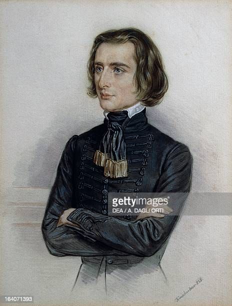 Portrait of Franz Liszt Hungarian composer pianist and conductor dressed in a traditional Hungarian costume Weimar LisztHaus