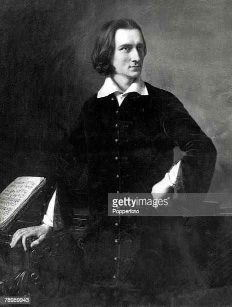 A portrait of Franz Liszt the Hungarian composer and pianist seen here wearing a traditional gala costume