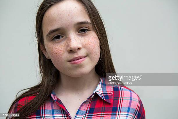 portrait of freckled face girl - bottomless girl stock pictures, royalty-free photos & images