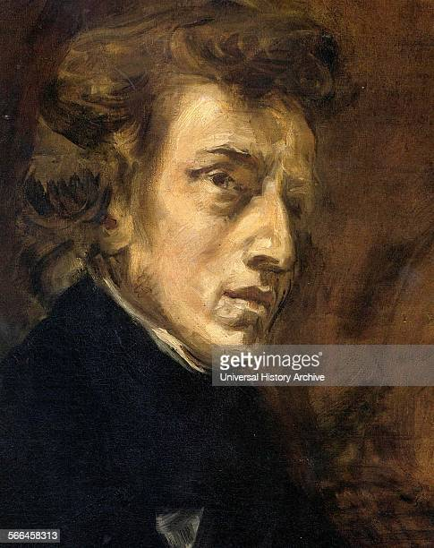Portrait of Frederic Francois Chopin Polish composer and virtuoso pianist of the Romantic era who wrote primarily for the solo piano Painted by...
