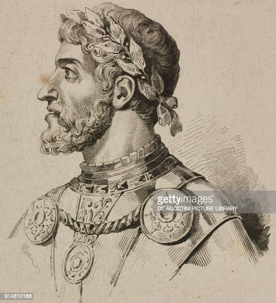 Portrait of Frederick Barbarossa Holy Roman Emperor engraving by Lemaitre and Moret from Allemagne by Philippe Le Bas L'Univers pit Holy Roman...