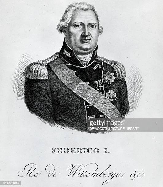Portrait of Frederick I of Wurttemberg King of Wurttemberg engraving Germany 19th century