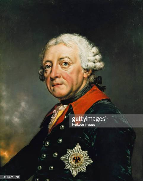 Portrait of Frederick II of Prussia 1782 Found in the Collection of Staatliche Museen Berlin