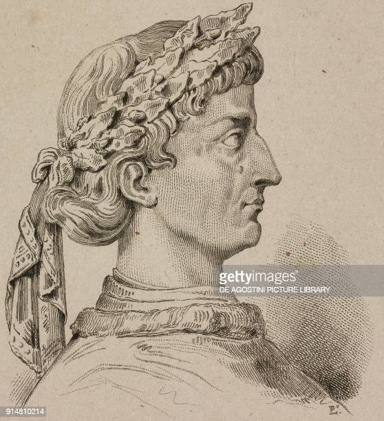 Portrait of Frederick II son of Henry V Holy Roman Emperor engraving by Lemaitre and Langlois from Allemagne by Philippe Le Bas L'Univers pittoresque...