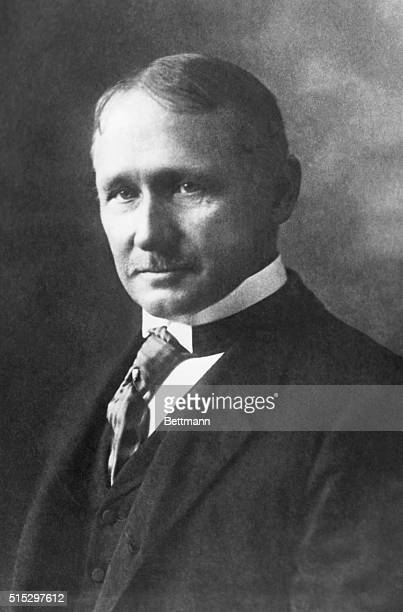 Portrait of Frederick W Taylor American efficiency engineer Codeveloper of TaylorWhite process for treating highspeed tool steels Author of The...