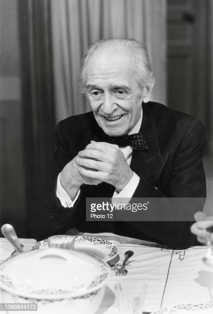 Portrait of French actor and director Louis Ducreux. Circa 1985.