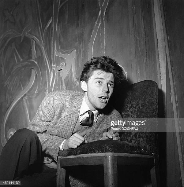 Portrait of French actor Gerard Philipe 1955 in France