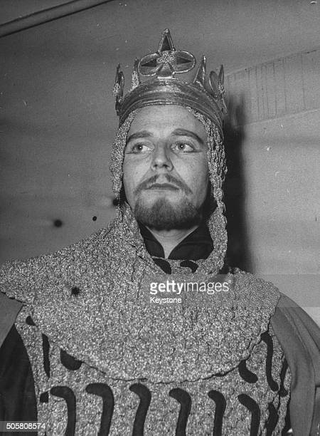 Portrait of French actor Gerard Philipe in costume as Richard II 1954 Printed following his death on November 25th 1959