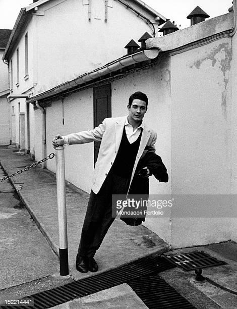 Portrait of French actor Jacques Charrier Paris 1959