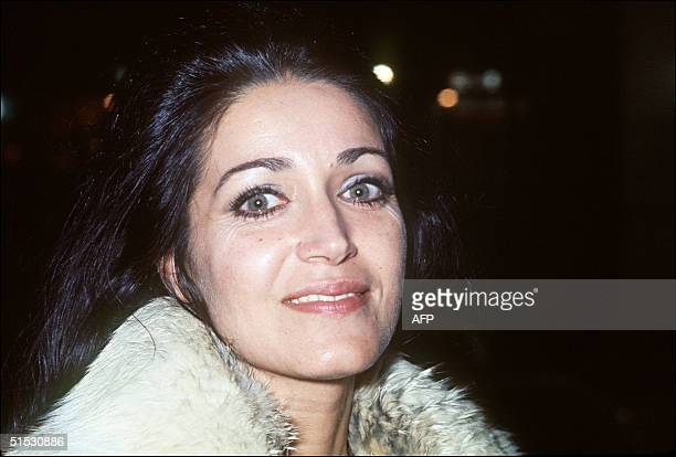 Portrait of French actress Frantoise Fabian taken 14 January 1970 in Paris during the film premiere of Cran d'ArrOt by French director Yves Boisset...