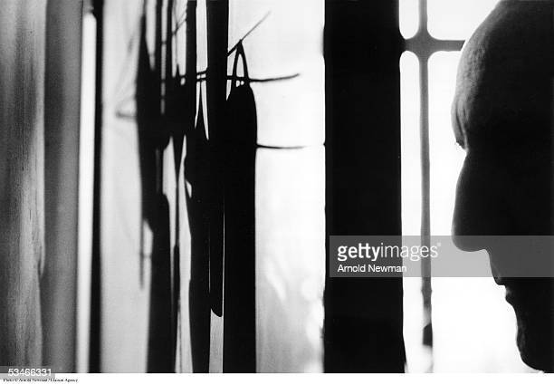 Portrait of French artist Marcel Duchamp, January 28 in New York City. Duchamp is best known for his controversial cubist painting 'Nude Descending a...