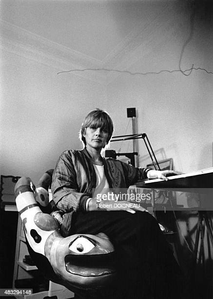 Portrait of French cartoonist Claire Bretecher 1983