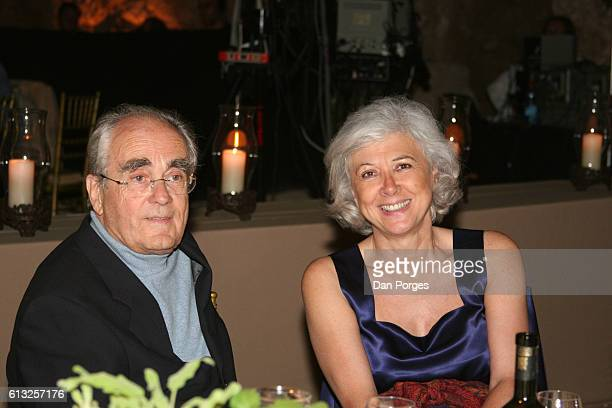 Portrait of French composer Michel Legrand and harpist Catherine Michel as they attend the annual meeting of the Bar Ilan University Board of...