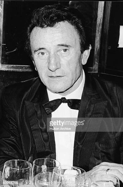 Portrait of French couturier Guy Laroche at a black tie event, 1980s.