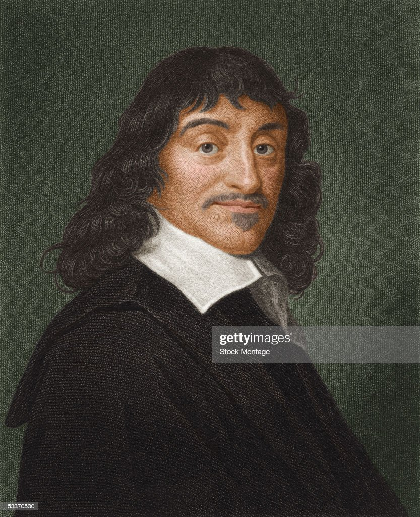 Portrait of French mathematician and philosopher Rene Descartes (1596-1650), the Founder of Modern Philosophy and the Father of Modern Mathematics, he invented the Cartesian coordinate system and formulated the basis of modern geometry, 1600s.