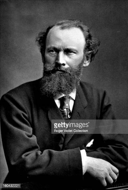 Portrait of French painter Edouard Manet posed circa 1870