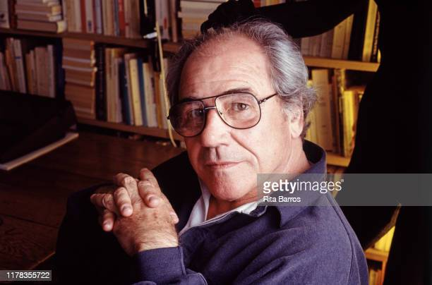 Portrait of French philosopher Jean Baudrillard , Paris, France, 1991.